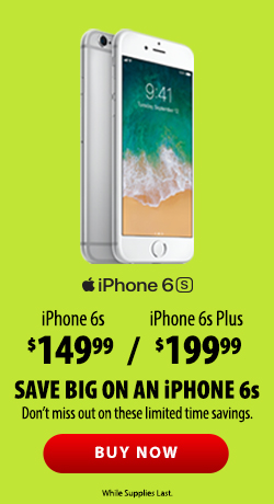 Save big on an iPhone 6s. Don't miss out on these limited time savings