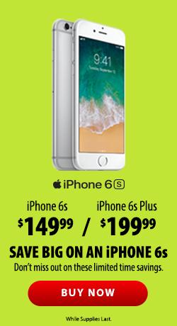 Save Smart this Tax Season iPhone 6s 199.99