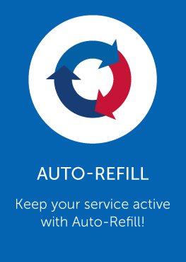 Auto-refill link, keep your service active