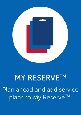 My Reserve program link add plans to reserve