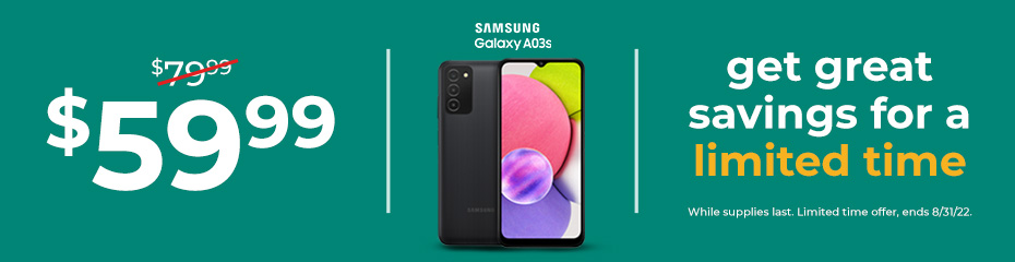 Save on a new Samsung Galaxy with plan purchase during tax season. A10e, now $69.99, A20, now $79.99 and the A50 now $179.99