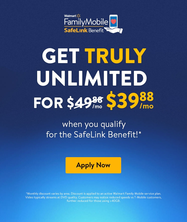 Best Value No Contract Unlimited Phone Plans | Walmart Family Mobile
