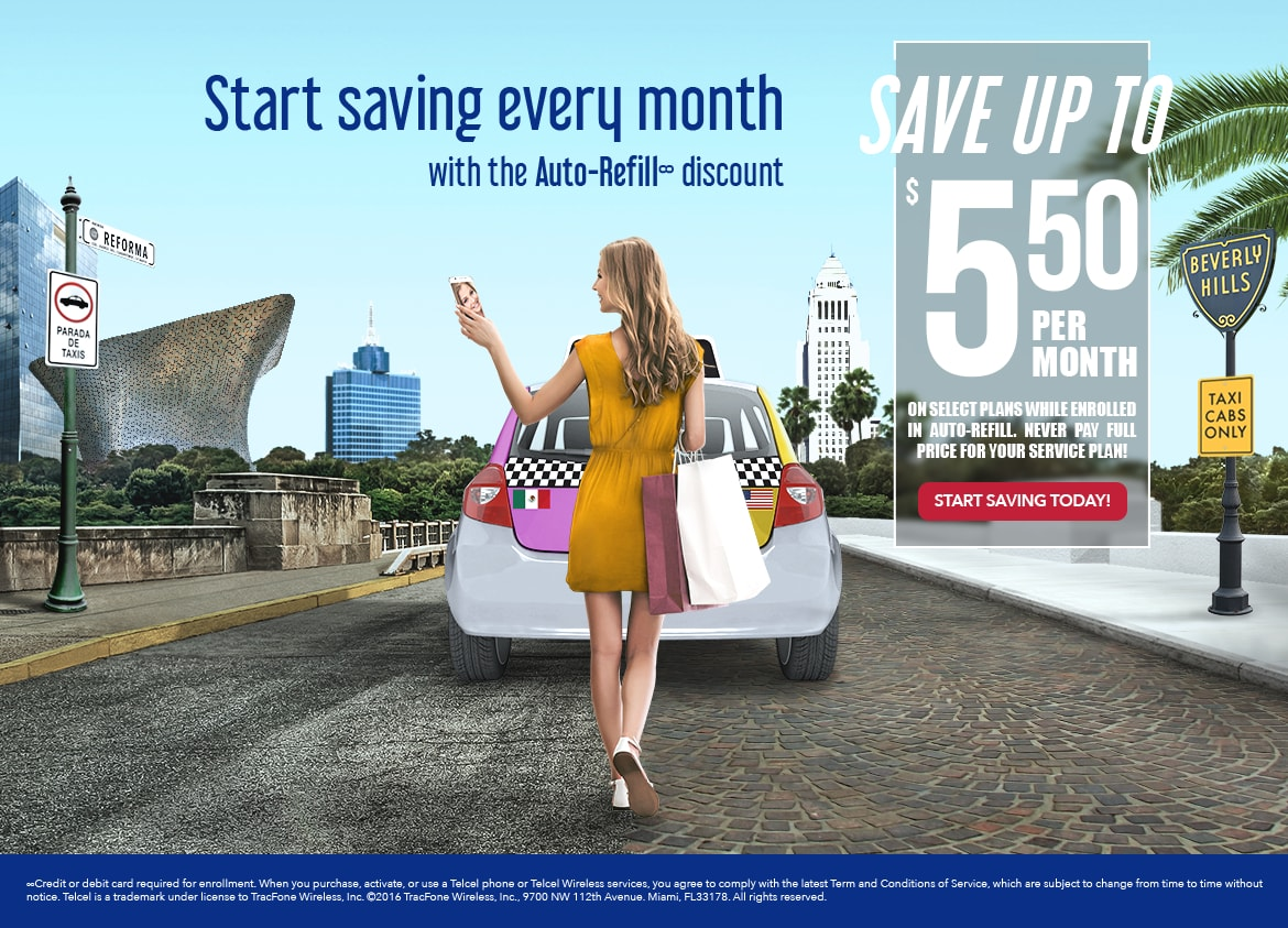 Save Up to $5.50 per month on selected plans while enrolled in auto refill, never pay full price for your service plan