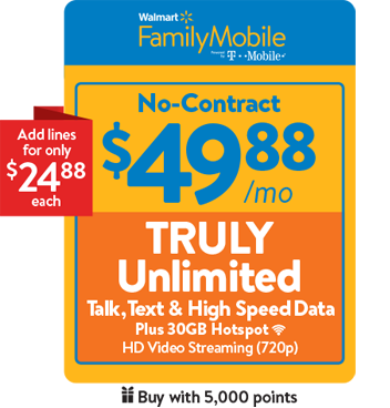 Shop Our Monthly Phone Plans & Add Ons | Walmart Family Mobile